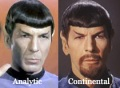 Analytic vs Continental Spock